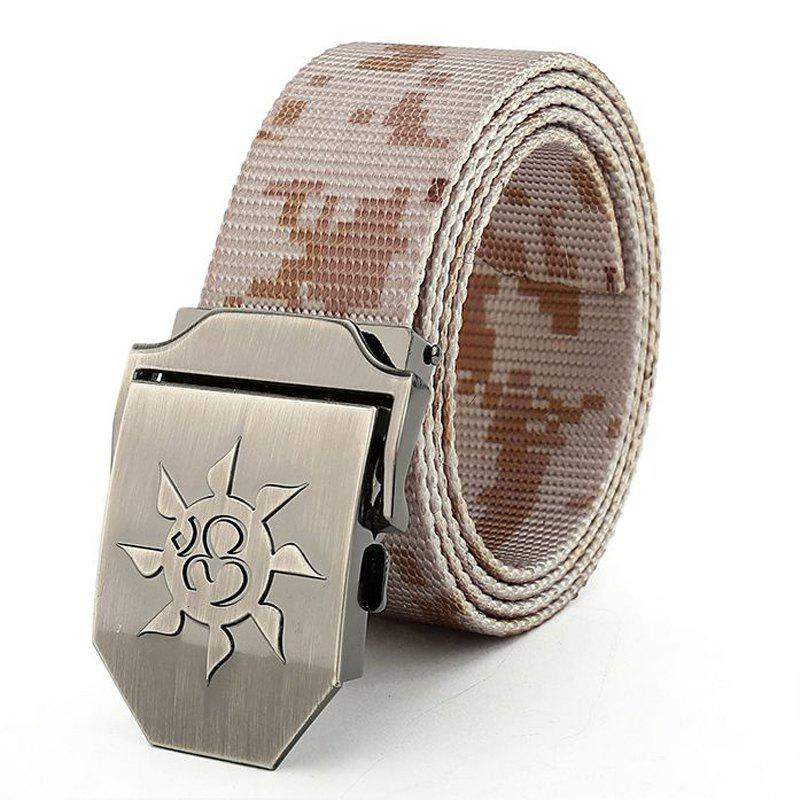 Fahsion Sun Shape Adjustable Multi-Function Tactical Military Nylon Waist Belt with Metal Buckle - DESERT CAMOUFLAGE