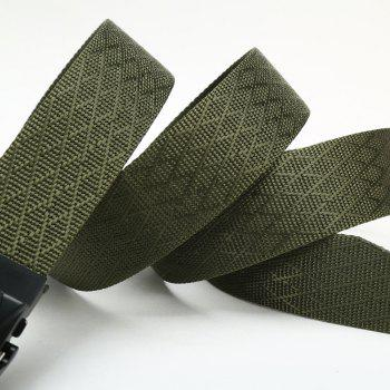 Quick Dry Adjustable Nylon Weaving Waist Belt Breathable with Metal Buckle Outdoor Sport - ARMY GREEN