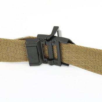 Quick Dry Adjustable Nylon Weaving Waist Belt Breathable with Metal Buckle Outdoor Sport - BROWN