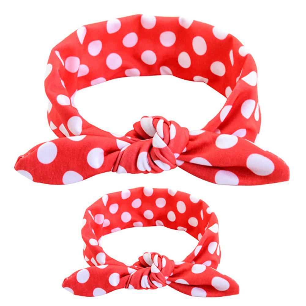 Printed Mother and Child Hair Band Suit newborn photography props child headband baby hair accessory baby hair accessory female child hair bands infant accessories