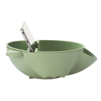 Creative Double-Layer Plastic Fruit Tray Household Dried Fruit Box Snack Bowl Lazy Melon Dish - GREEN 21.5 X 20 X 7CM