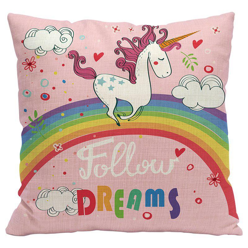 Unicorn Cartoon Car Living Room Sofa Bedroom Cushion Pillow Case - PAPAYA STYLE1