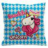 Unicorn Cartoon Car Living Room Sofa Bedroom Cushion Pillow Case - BLACK/BLUE STYLE1