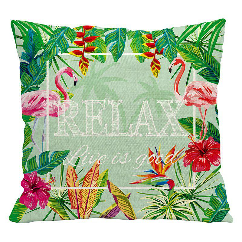 Nordic Style Flamingo Polyester Linen Blended Sofa Bedroom Pillowcase Cushion Cushions Decorative Cloth - MOSS STYLE1