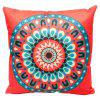 National Wind Circular Patterns Custom Pillowcases Cotton Linen Pillow Cushions Decorative Car - ORANGE STYLE1