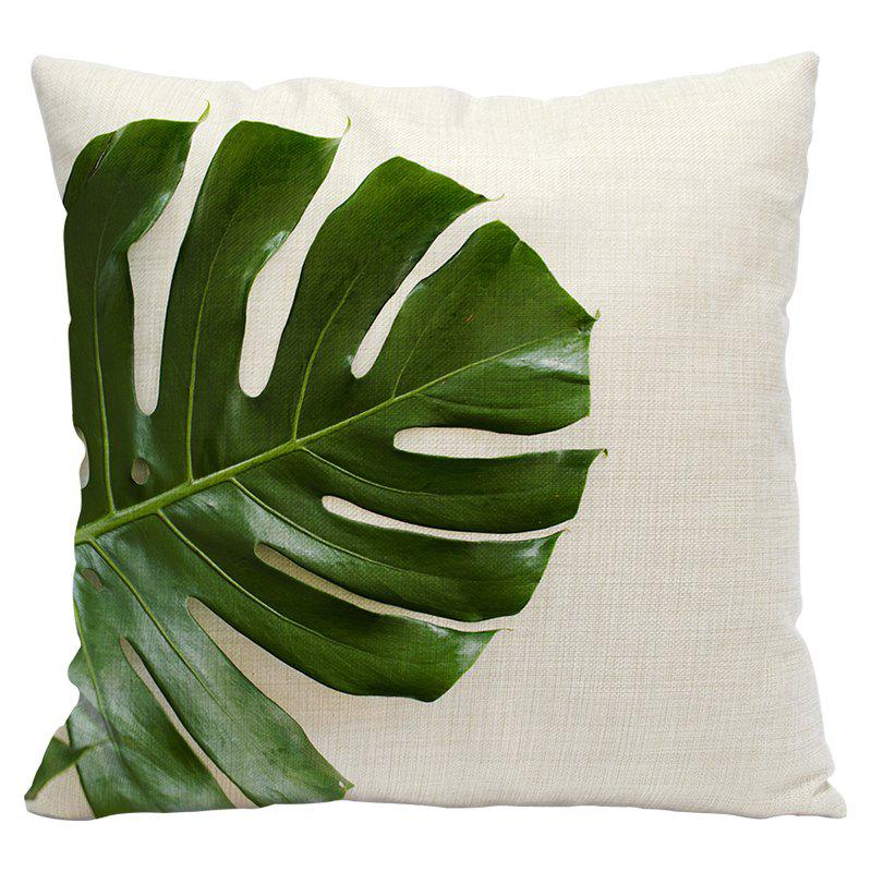 Fresh Green Leaves Fashion Tropical Plants Cotton Linen Pillowcase Cushions Office Pillow Bed Car Waist Back - MOJITO STYLE1