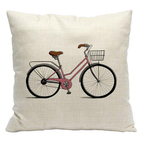 Bicycles Simple and Modern 3D Printing Cotton Pillowcase Car Lumbar Sofa Cushions Decorated Office - PALOMINO STYLE1