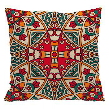 Ethnic Style Pillowcase Cotton and Linen Pillow Office Living Room Cushion Car Decoration - RED STYLE1