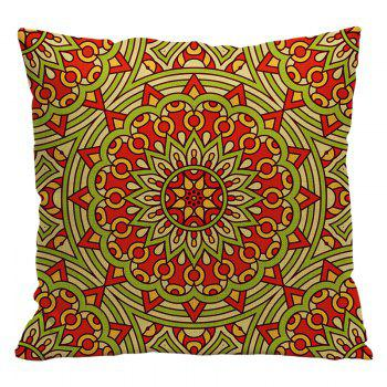 Ethnic Style Pillowcase Cotton and Linen Pillow Office Living Room Cushion Car Decoration - RED STYLE3