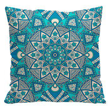 Ethnic Style Pillowcase Cotton and Linen Pillow Office Living Room Cushion Car Decoration - RED RED