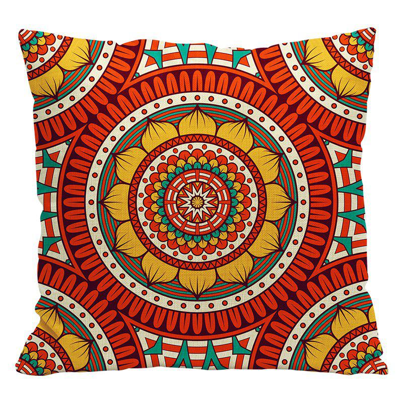 Ethnic Style Pillowcase Cotton and Linen Pillow Office Living Room Cushion Car Decoration - RED STYLE7