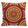 Ethnic Style Pillowcase Cotton and Linen Pillow Office Living Room Cushion Car Decoration - RED STYLE4