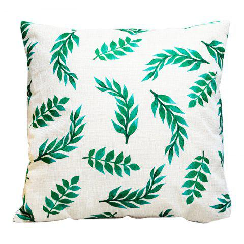 Creative Simplicity Leaves Green Leaf Fashion Cushions Office Pillow Bedside Back Car Waist Cushion Pillowcase - BEIGE STYLE4