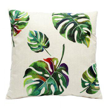Creative Simplicity Leaves Green Leaf Fashion Cushions Office Pillow Bedside Back Car Waist Cushion Pillowcase - BEIGE STYLE5