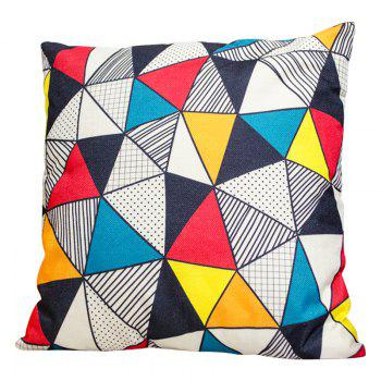 Irregular Geometric Triangle Pillow Cover Car Waist Sofa Sit Cushions Decorative Cloth Office - BEIGE BEIGE