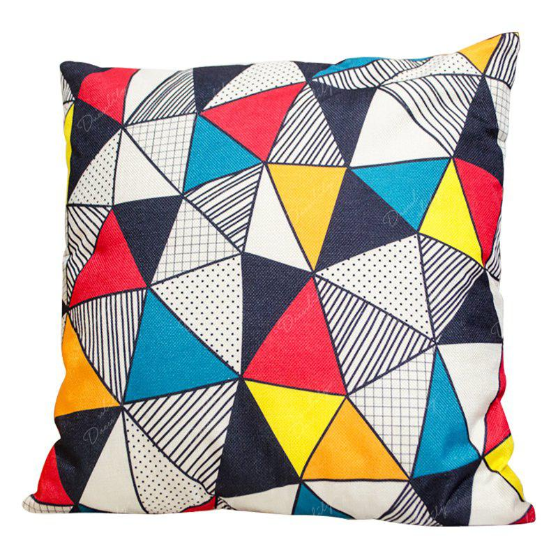 Irregular Geometric Triangle Pillow Cover Car Waist Sofa Sit Cushions Decorative Cloth Office - BEIGE STYLE2