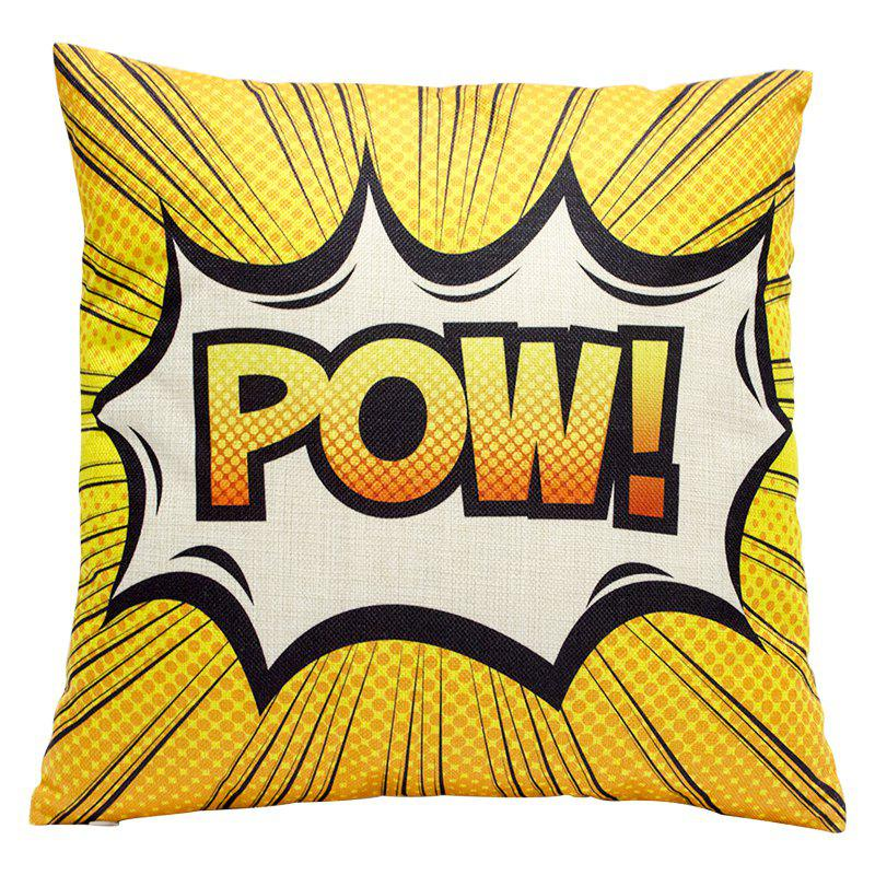 Cartoon Format Linen Pillowcase Sofa Sit Car Lumbar Cushion Decoration Office - ORANGE STYLE1