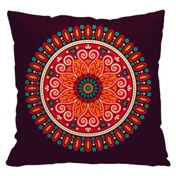 National Wind Polygon Pattern Custom Pillowcases Cotton and Linen Pillow Cushion Decoration Car - BEIGE STYLE2