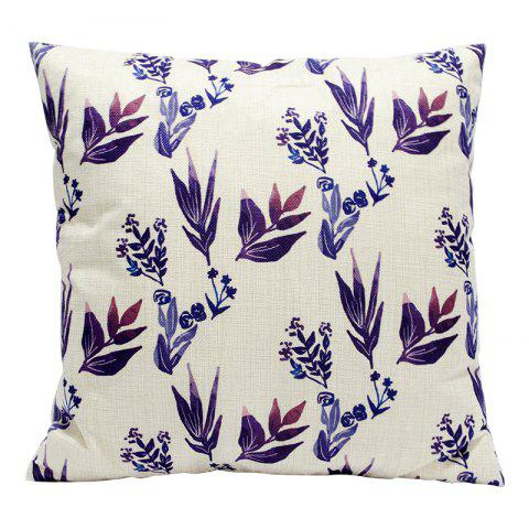 Plant Flowers Pretty Cotton Pillowcase Sofa Car Lumbar Cushion Decorative Office Four Seasons Fabric 18 - BEIGE STYLE3
