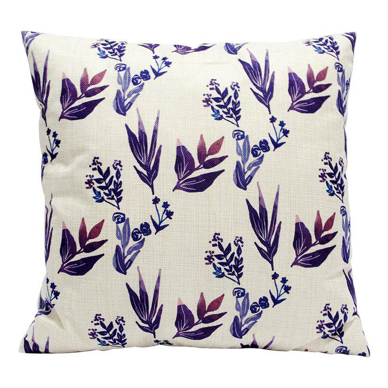 Plant Flowers Pretty Cotton Pillowcase Sofa Car Lumbar Cushion Decorative Office Four Seasons Fabric 18 - BEIGE STYLE1