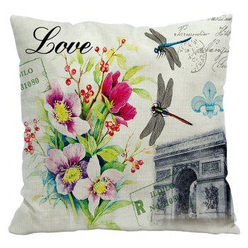Retro Nostalgic Tower Cotton and Linen Pillowcase Office Sofa Car Lumbar Cushion Decoration European and American Style - BEIGE STYLE3
