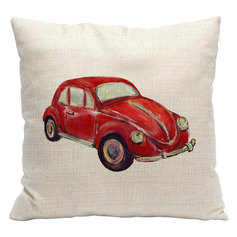 Simple and Stylish Car 3D Printing Cotton Pillowcase Office Sofa Cushion Cushions By The Lumbar - BEIGE STYLE1