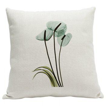 Heavy Cotton Leaf Simple Pastoral Vein Print Pillow Bedroom Sofa Car Cushion Back Cover - BEIGE STYLE6