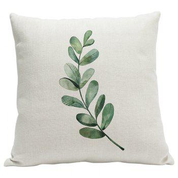 Heavy Cotton Leaf Simple Pastoral Vein Print Pillow Bedroom Sofa Car Cushion Back Cover - BEIGE STYLE7