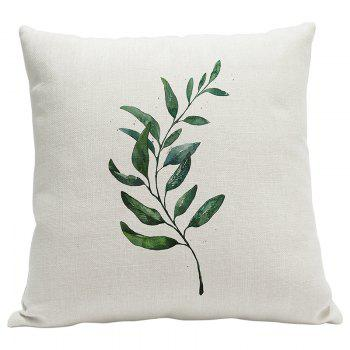 Heavy Cotton Leaf Simple Pastoral Vein Print Pillow Bedroom Sofa Car Cushion Back Cover - BEIGE STYLE9