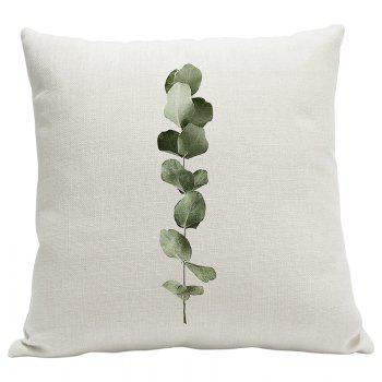 Heavy Cotton Leaf Simple Pastoral Vein Print Pillow Bedroom Sofa Car Cushion Back Cover - BEIGE STYLE11