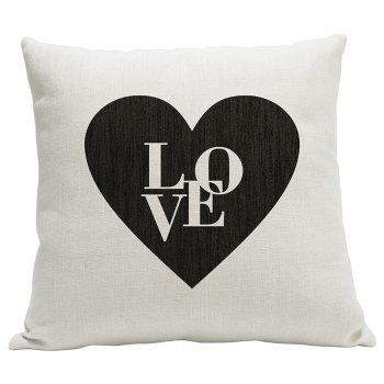 Simple Fresh Fashion English Word Heavy Cotton and Linen Printed Pillow Bedroom Sofa Car Cushion Back Cover - BEIGE STYLE14