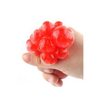 5cm Cute Anti Stress Face Reliever Grape Ball Autism Mood Squeeze Relief Healthy Toy Vent Extruded - ORANGE
