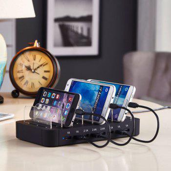 Multi Function Chager  8 USB Ports,Chaging Holder -  BLACK