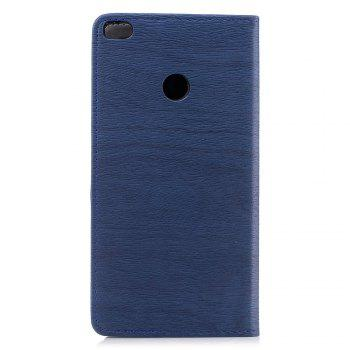 Cover Case for Xiaomi Max 2 Card Holder with Stand Flip Full Body Lines / Waves Hard PU Leather - BLUE