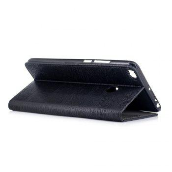 Cover Case for Xiaomi Max 2 Card Holder with Stand Flip Full Body Lines / Waves Hard PU Leather - BLACK