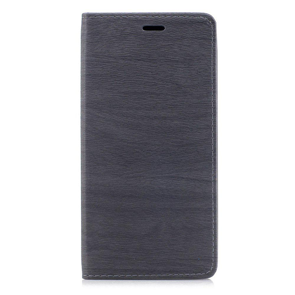 Cover Case for Xiaomi Max 2 Card Holder with Stand Flip Full Body Lines / Waves Hard PU Leather - GRAY