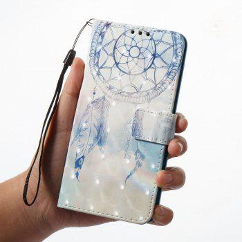 3D Painting Filp Case for OnePlus 5 Dreamcatcher Pattern PU Leather Wallet Stand Cover - BLUE