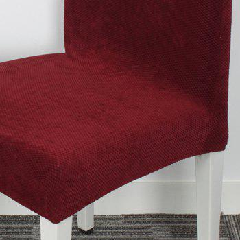 High Quality Cross Back Chair Covers Kitchen Seat Covers Dining Room Decoration Stretch Chair Slipcover Protector - WINE RED