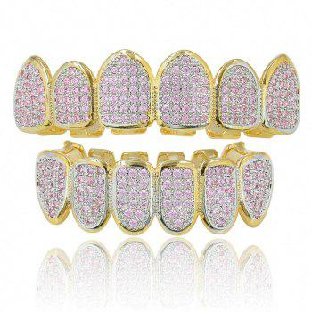 Hip Hop 18K Gold Plated Micro Pave