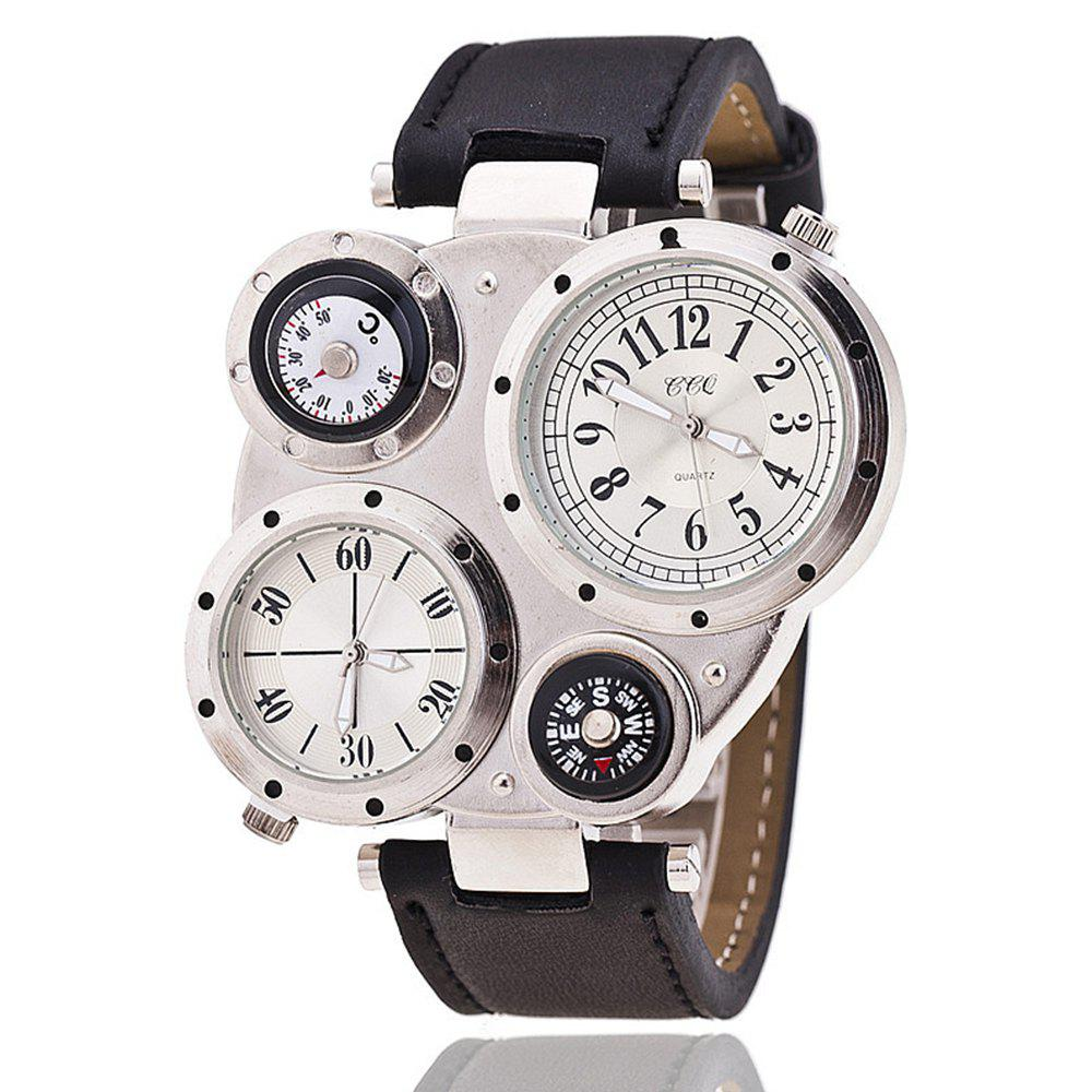 Men'S Watch Multifunctional Compass Trendy Watch Accessory - WHITE