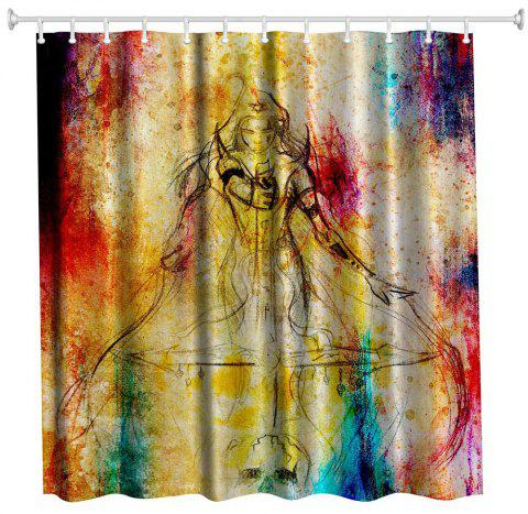 Female Warrior Polyester Shower Curtain Bathroom High Definition 3D  Printing Water-Proof - COLORMIX W59 2a2470f90