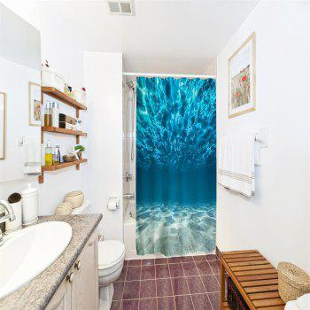Underwater World Polyester Shower Curtain Bathroom  High Definition 3D Printing Water-Proof - COLORMIX W71 INCH * L79 INCH