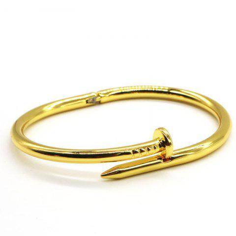 High Quality Colour Women Cuff Nail Bangles Charming Gold Simple Style Elegant Metal Bracelet & Bangle For Women - GOLDEN