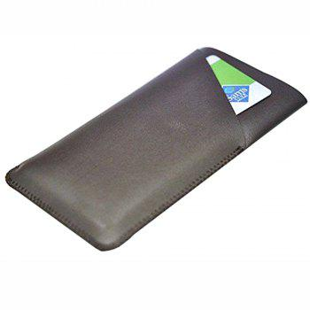 Charmsunsleeve For Samsung Galaxy Note 8 Case Tri-Fold Style Microfiber Leather Phone Sleeve Bag With Card Slots - COFFEE