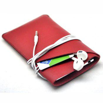 Charmsunsleeve For Samsung Galaxy Note 8 Case Tri-Fold Style Microfiber Leather Phone Sleeve Bag With Card Slots - RED