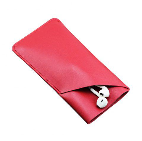 Charmsunsleeve For iPhone X 5.8 inch Case Tri-Fold Style Microfiber Leather Phone Sleeve Bag With Card Slots - RED