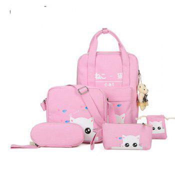 5 Pcs Girl s School Bags Set