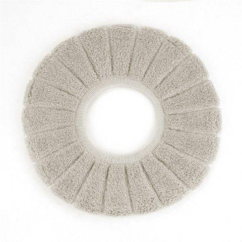 O-Shape Toilet Seats Warm Thick Knitted Pumpkin Pattern Toilet Seat Cushion Diameter - GRAY