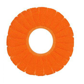 O-Shape Toilet Seats Warm Thick Knitted Pumpkin Pattern Toilet Seat Cushion Diameter - ORANGE