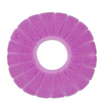 O-Shape Toilet Seats Warm Thick Knitted Pumpkin Pattern Toilet Seat Cushion Diameter - PURPLE